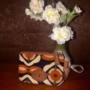 FOSSIL Key-Per FLORAL Wallet ID Credit Card Holder
